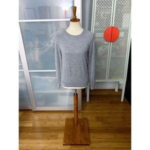 Madewell Merino Elbow Patch Sweatshirt in Grey